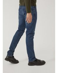 Armani - 5 Pockets Slim FIT Jeans Azul - Lyst