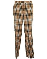 Burberry Vintage Check Tailored Trousers - Naturel