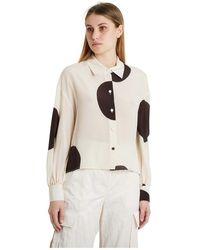Erika Cavallini Semi Couture Camicia - Naturel