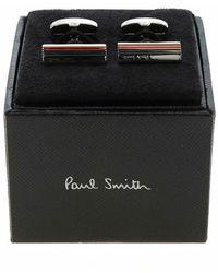 Paul Smith Bevel Stripe Cufflinks - Grigio