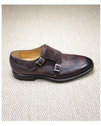 Magnanni Double Buckle Shoe - Bruin