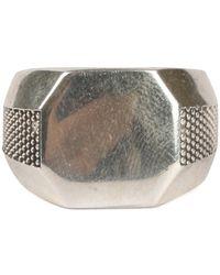 Emanuele Bicocchi EB Octagon Ring - Gris