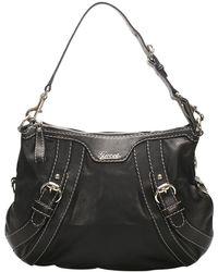 AJMONE Leather Shoulder Bag - Schwarz