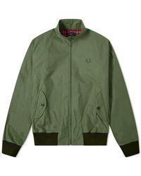 Fred Perry Riedizioni Made in England Harrington Wax Jacket Dark Fern - Verde
