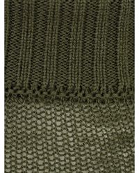 Rick Owens Membrane Ribbed Turtle Neck Sweater - Groen