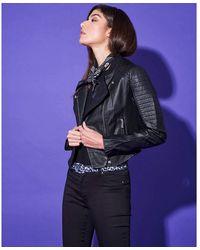 Silvian Heach Biker Ecopelle Jacket Negro