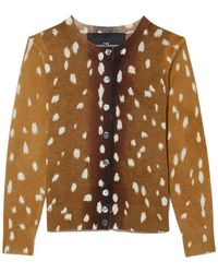 Marc Jacobs THE Printed Cardigan - Marron