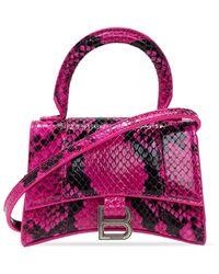 Balenciaga Hourglass Shoulder Bag - Roze