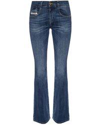 DIESEL 'D-Ebbey' distressed jeans - Blau