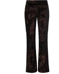 Balmain Patterned pleat-front trousers - Nero