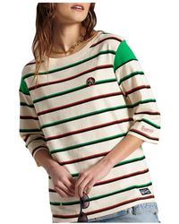 Superdry Camiseta Collegiate Ivy - Naturel