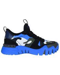 Valentino Valentino Garavani Rockrunner Plus Sneakers - Blauw