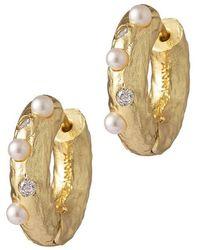Anni Lu Earrings Gem In A Hope - Geel