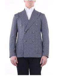 Tagliatore 1Smc20K23Uez073 Double-breasted blazer - Grau