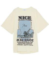 Rhude T-shirt - Naturel