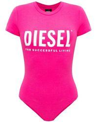 DIESEL Bodysuit With Logo - Roze