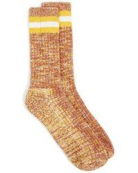 Universal Works Socks Everyday Stripe - Gelb
