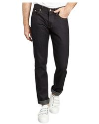 Naked & Famous Deep Stretch Selvedge Jeans - Zwart