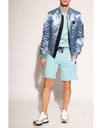 Philipp Plein Shorts con logo Azul