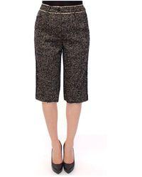 Dolce & Gabbana Linen Shorts Pants - Zwart