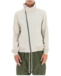 Rick Owens Bahuahus zip-up sweatshirt - Gris