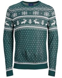 Jack & Jones Fair Isle Sweater - Groen