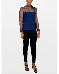 RED Valentino Point d'esprit tulle top Azul
