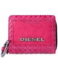 DIESEL Wallet With Logo - Roze