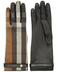 Burberry Technical Check Gloves - Zwart