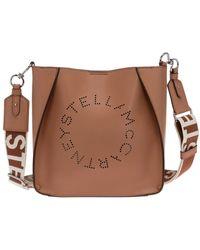 Stella McCartney Schoudertas Met Geperforeerd Logo - Bruin