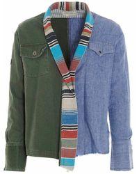 Greg Lauren Bm116armyblue jacket - Vert