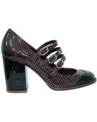 Chanel Vintage Block Heel Pumps - Rouge