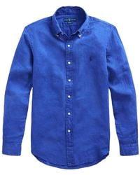 Polo Ralph Lauren Slim Fit Shirt - Blauw