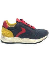 Voile Blanche Sneakers running suede/ tessuto nylon Us19Vb02 - Blau