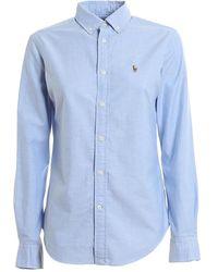 Ralph Lauren Camicia Oxford - Blauw