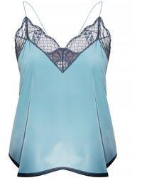 Zadig & Voltaire Silk Sleeveless Top - Blauw