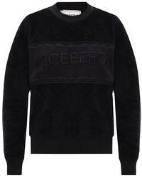 Iceberg Fleece Sweatshirt - Zwart