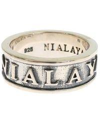Nialaya 925 Ring - Grijs