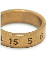 Maison Margiela Number Logo Slim Ring - Geel
