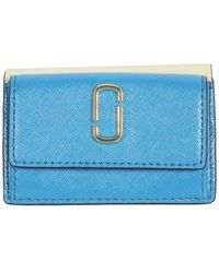 Marc Jacobs Mini Trifold Wallet - Blauw