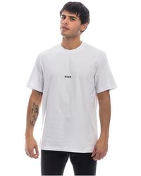 MSGM Crew Neck T-shirt H Small Logo - Wit