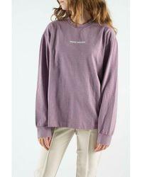 WOOD WOOD Astrid Long Sleeve blouse Morado