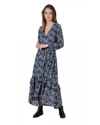 Molly Bracken - Robe Portefeuille En Mousseline Fleurie - Lyst