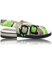 Carven Leather Sandals - Grün