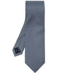 Ferragamo Cravate à motifs - Bleu