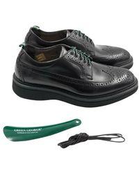 Green George Shoes - Zwart