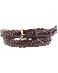 Anderson's Leather Braid Belt - Marrone