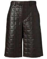 Bottega Veneta Quilted Shorts - Zwart