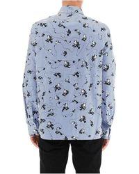 Neil Barrett Felix The Cat Shirt Azul