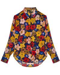 Garçons Infideles Floral Shirt Crystal - Geel